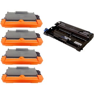 5-pack Replacing Brother 4 by TN-450 Toner Cartridge Plus 1 by DR-420 Drum Unit