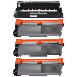 4-pack Replacing Brother 3 by TN-750 Toner Cartridge Plus 1 by DR-720 Drum Unit