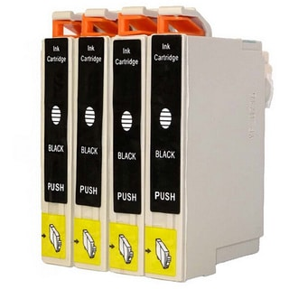 4-pack Replacing Epson 220 220XL T220120 T220XL120 Black Ink Cartridge
