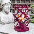 TF Essentials Mediterranean Purple Outdoor Steel Lantern
