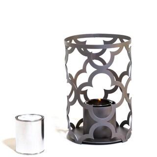 TF Essentials Mediterranean Gray Outdoor Steel Lantern