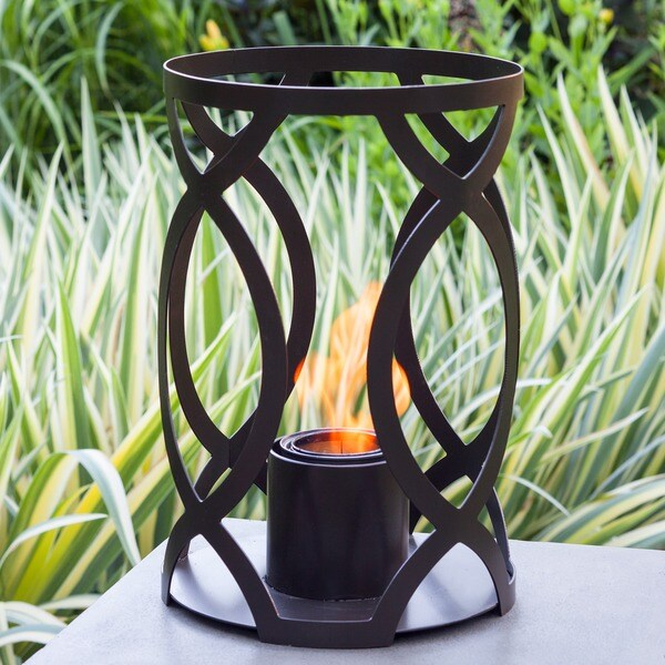Savannah Outdoor Steel Bronze 15-inch x 10-inch Lantern