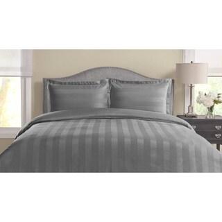 Tuxedo Woven Stripe 100-percent Pima Cotton 3-piece Duvet Cover Set