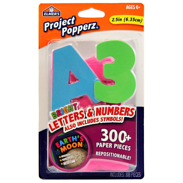 Elmer's Project Popperz Bright Letters & Numbers - 300/PK