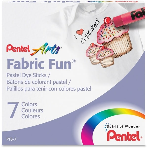 Pentel Arts Fabric Fun Pastel Dye Sticks - 7/ST
