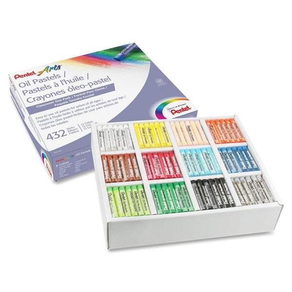 Pentel Arts Oil Pastels Class Pack, Set of 432 - 432/PK