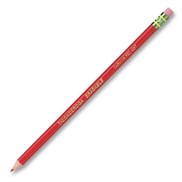 Ticonderoga Eraser Tipped Checking Pencils - 12/DZ
