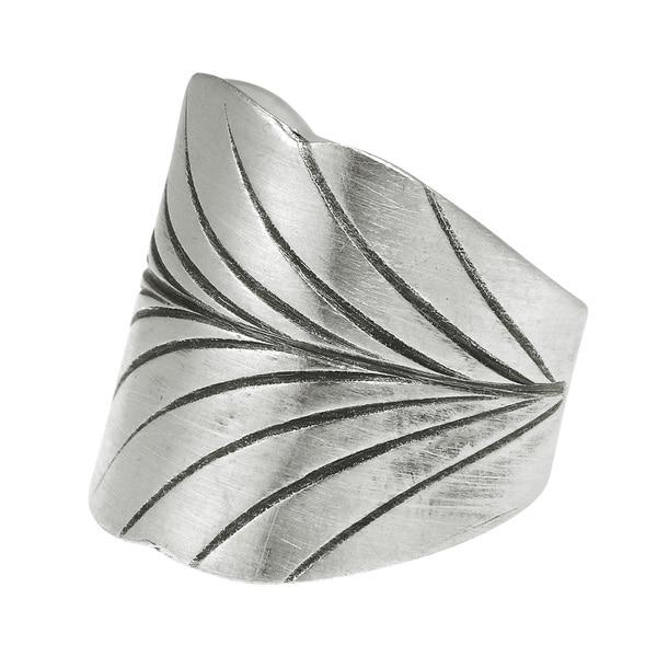 Leaf Wrap Thai Karen Hill Tribe Adjustable Silver Ring (Thailand)