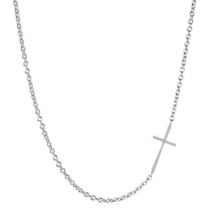 ELYA Stainless Steel Sideways Cross Necklace