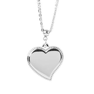 Women's Stainless Steel Heart Charm Necklace