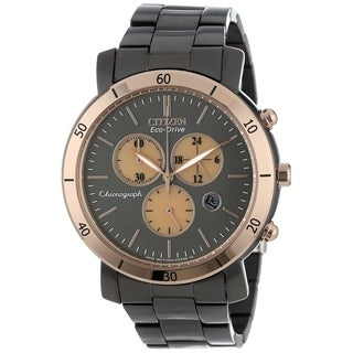 Citizen Women's FB1348-50E 'Drive' Chronograph Black Stainless Steel Watch