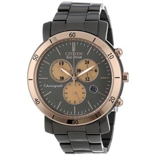 Citizen Women's FB1348-50E 'Drive' Chronograph Black Stainless Steel Watch
