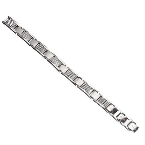Caseti Jordanes Vertical Ribbed Stainless Bracelet