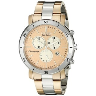 Citizen Women's FB1346-55Q 'Drive' Chronograph Two-Tone Stainless Steel Watch