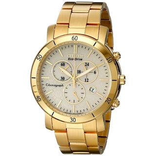 Citizen Women's FB1342-56P 'Drive' Chronograph Gold-Tone Stainless Steel Watch