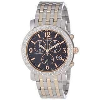Citizen Women's FB1296-51H 'Eco-Drive' Chronograph Two-Tone Stainless Steel Watch