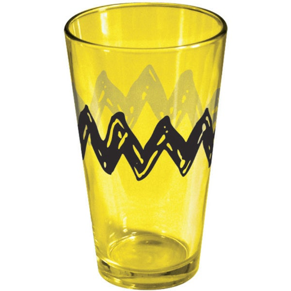 Charlie Brown Zig-Zag Pint Glass Drinking