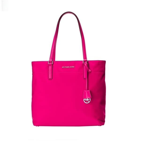 Michael Kors Morgan Large Nylon Tote - Raspberry