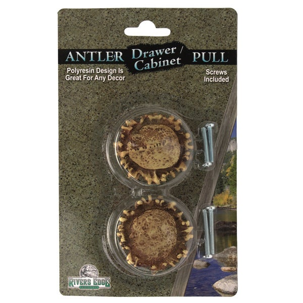 Rivers Edge Products Antler Drawer Handle/Knobs (Pack of 2)
