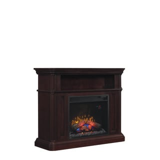 Oakfield 23-inch Indoor Electric Fireplace wtih a Dual Mantel in Espresso