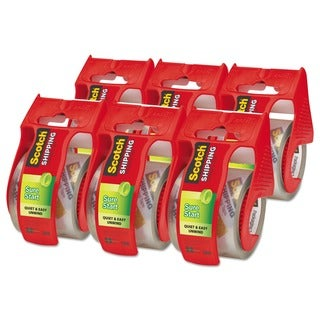 Scotch Sure Start Clear Packaging Tape (Pack of 6)