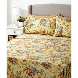 Glory Home 1000 Series 6-piece Sheet Set Yellow Floral