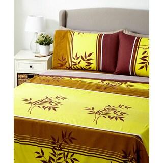 Glory Home 1000 Series 6-piece Sheet Set Yellow Tree