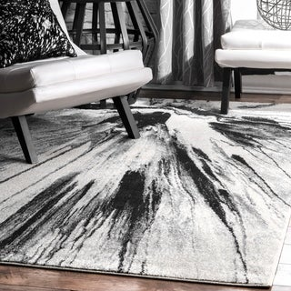 nuLOOM Abstract Splash Vintage Fancy Grey Area Rug (8' x 10')