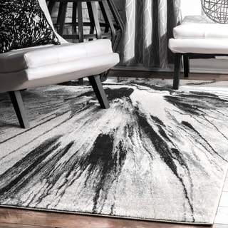 nuLOOM Abstract Splash Vintage Fancy Grey Area Rug (5' x 7'5)