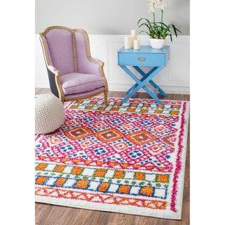 nuLOOM Soft and Plush Diamond Trellis Multi Kids Shag Rug (8' x 11')