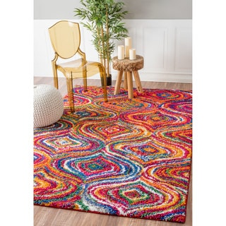 nuLOOM Soft and Plush Trellis Multi Kids Shag Rug (8' x 11')
