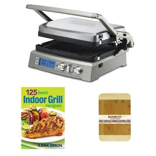 Cuisinart GR-300 Griddler Elite (Stainless Steel) Bundle