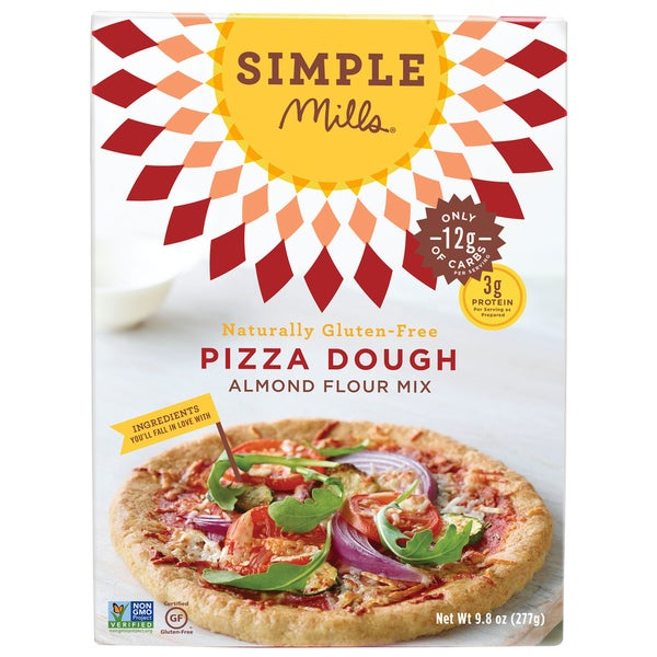 Simple Mills Gluten Free 9-ounce Pizza Dough Mix (Pack of 2)