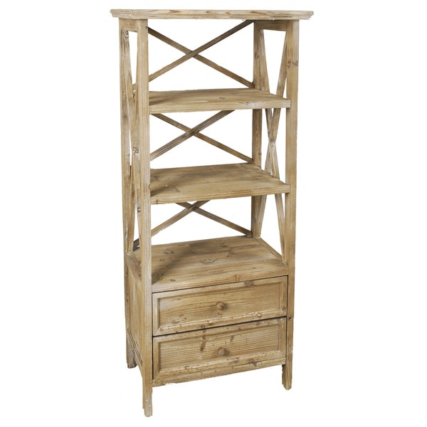 Knotty Pine Wooden Shelf Unit
