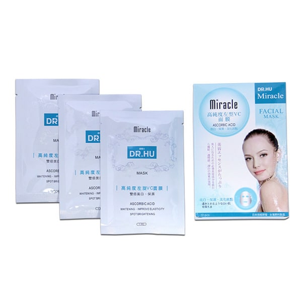DR. HU Miracle Ascorbic Acid Moisturizing Beauty Facial Mask (Pack of 10)