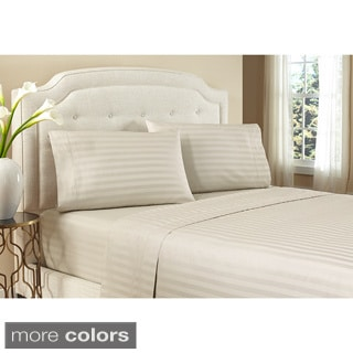 Crowning Touch by Welspun, 500TC Damask Stripe 100-percent Egyptian Cotton