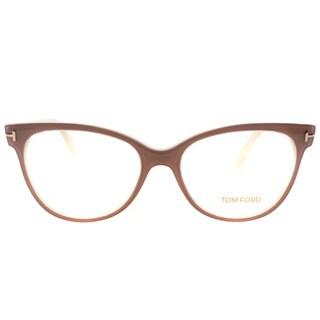 Tom Ford Womens FT 5291 074 Vintage Pink Plastic Cat Eye Eyeglasses