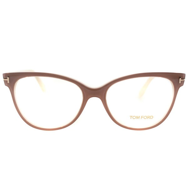 Tom Ford Womens FT 5291 074 Vintage Pink Plastic Cat Eye Eyeglasses