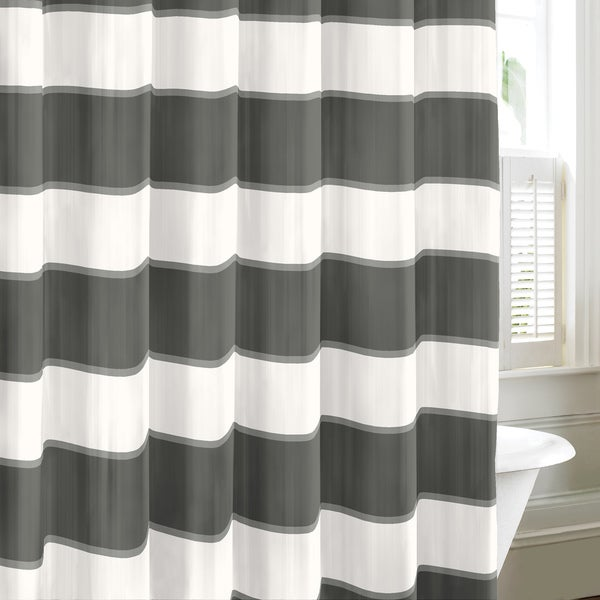 Nautica Guardhouse Stripe Shower Curtain in Cloud