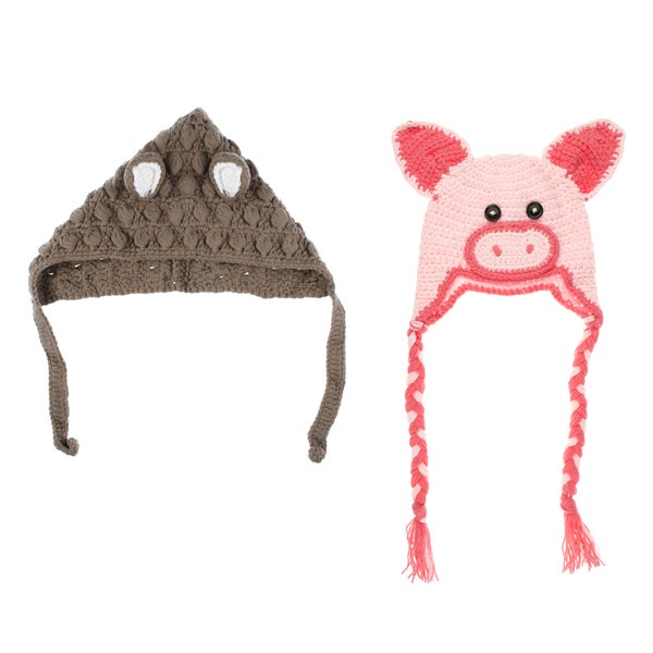 Crummy Bunny Pig and Mouse Beanie Set