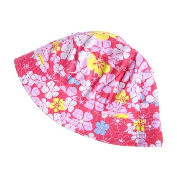 Crummy Bunny Reversible Red Tropical Floral Sun Hat