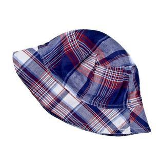 Crummy Bunny Boys' Red/ Blue Plaid Sun Hat