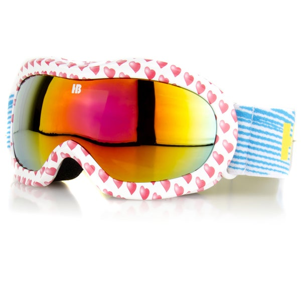Crummy Bunny Children's Red Hearts Ski Goggles