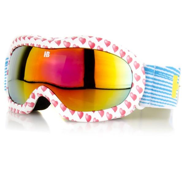 Crummy Bunny Children's Red Hearts Ski Goggles