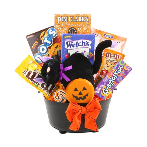 Black Cat Cauldron Gift Basket