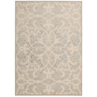 Nourison Graphic Illusions Beige/Sand Rug (7'9 x 10'10)