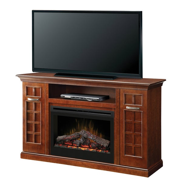 Yardley Media Console Electric Fireplace with 33-inch Firebox with Log Set