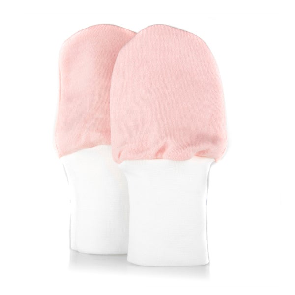 Crummy Bunny No Scratch Cotton Pink Baby Mittens