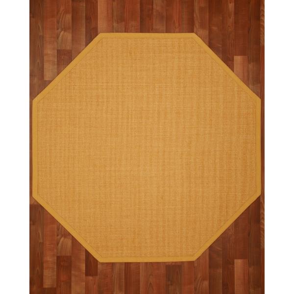 Roma (7' x 7') Octagon Sisal Rug - Tan