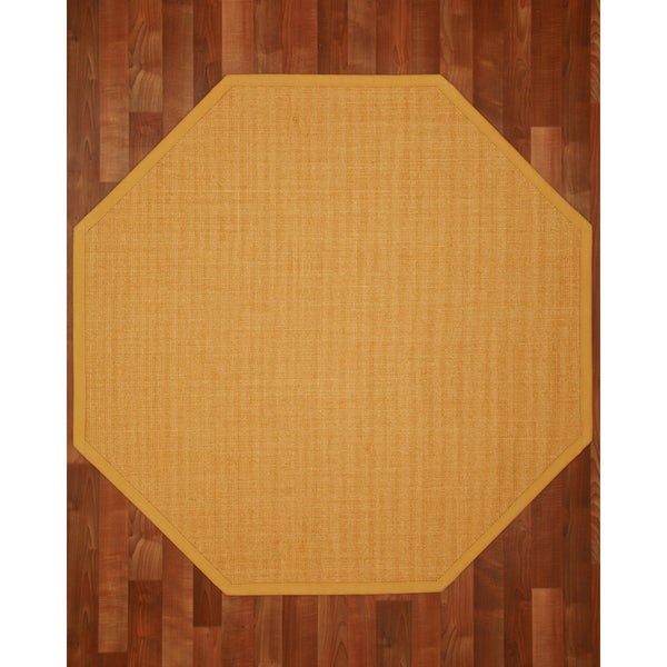 Roma (5' x 5') Octagon Sisal Rug - Tan